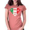 Superman Shield with Italian Womens Fitted T-Shirt
