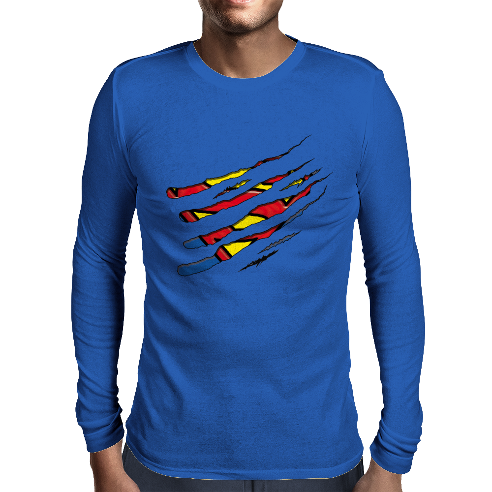 superman vs Wolverine Mens Long Sleeve T-Shirt