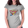 superman vs Wolverine Womens Fitted T-Shirt
