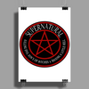 Supernatural  Killing evil son bitches raising a little hell  Ring Patch 03 Poster Print (Portrait)