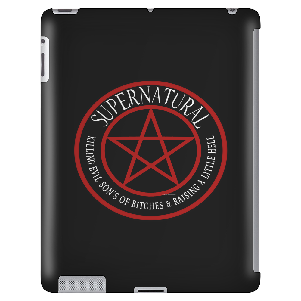 Supernatural  Killing evil son bitches raising a little hell  Ring Patch 03 Tablet (vertical)