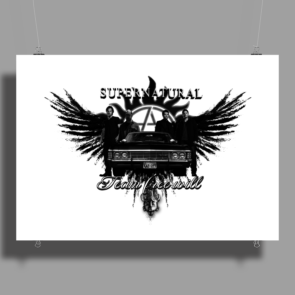 Supernatural Team Free Will Poster Print (Landscape)
