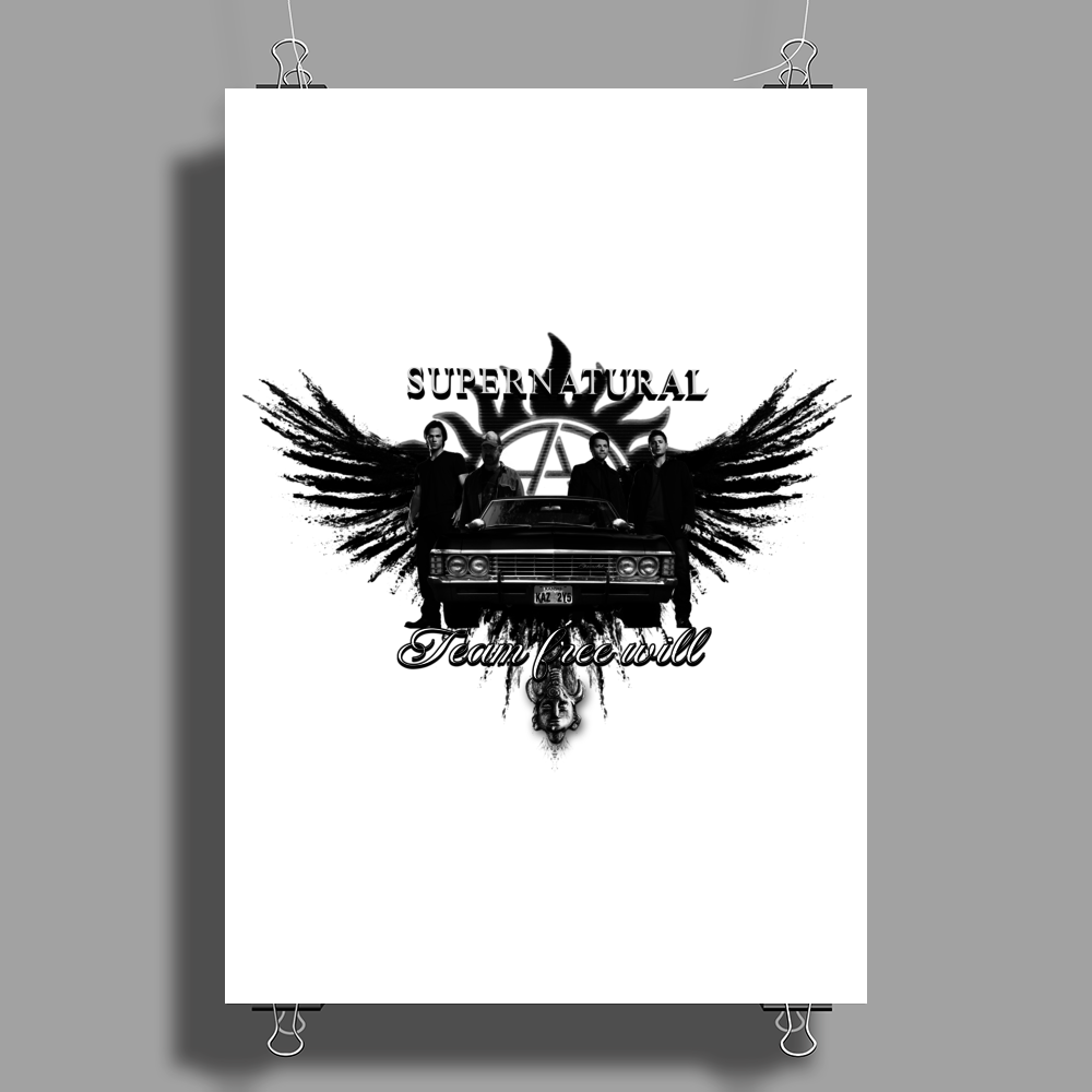 Supernatural Team Free Will Poster Print (Portrait)