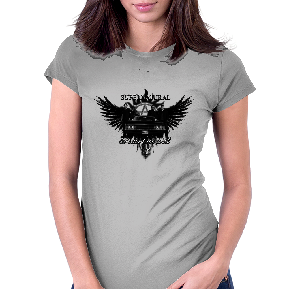 Supernatural Team Free Will Womens Fitted T-Shirt