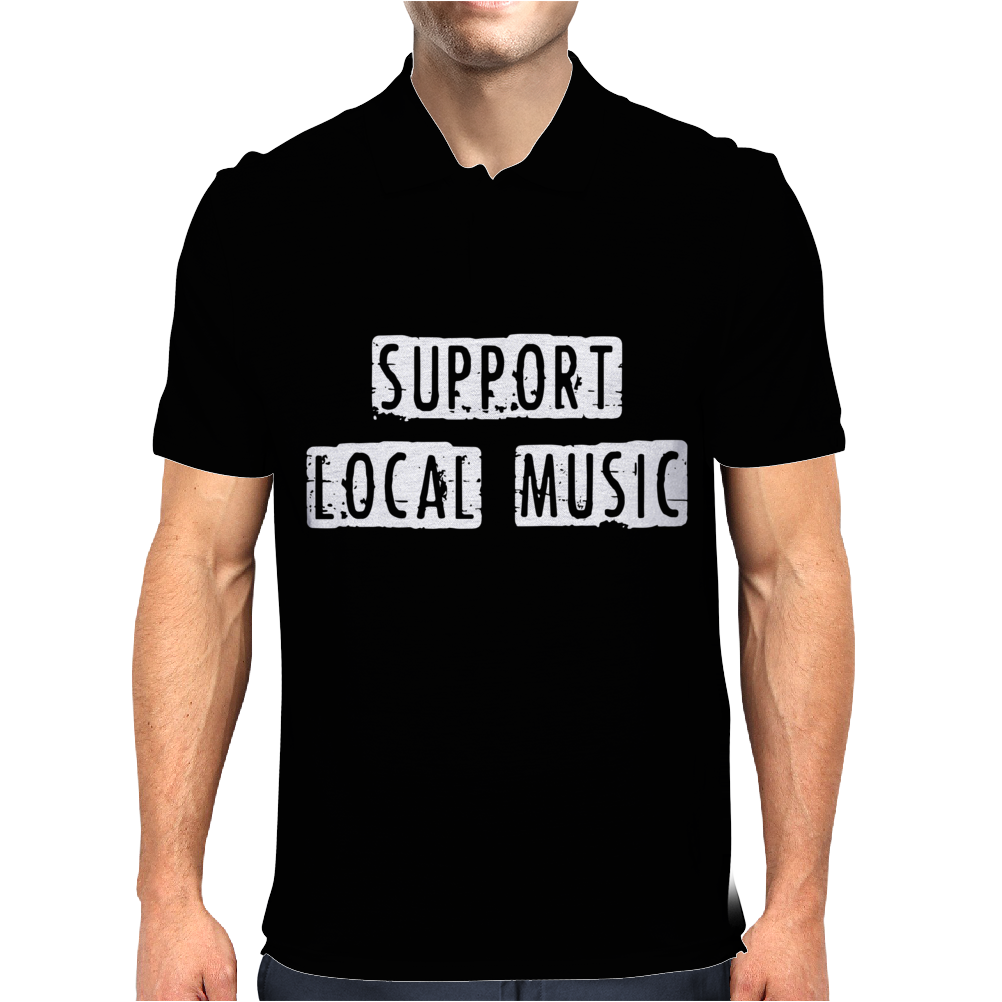 Support Local Music Mens Polo