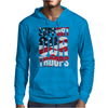 Support our troops.  Patriotic american flag. Mens Hoodie