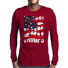 Support our troops.  Patriotic american flag. Mens Long Sleeve T-Shirt
