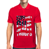 Support our troops.  Patriotic american flag. Mens Polo