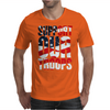 Support our troops.  Patriotic american flag. Mens T-Shirt