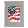 Support our troops.  Patriotic american flag. Tablet