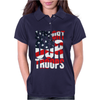 Support our troops.  Patriotic american flag. Womens Polo