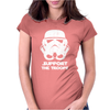 SUPPORT THE TROOPS Womens Fitted T-Shirt