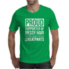 Supporter Of Messy Hair And Sweatpants Lounge Funny Mens T-Shirt