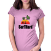 Surf Hard Womens Fitted T-Shirt