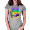 Surfing Coast to Coast Womens Fitted T-Shirt