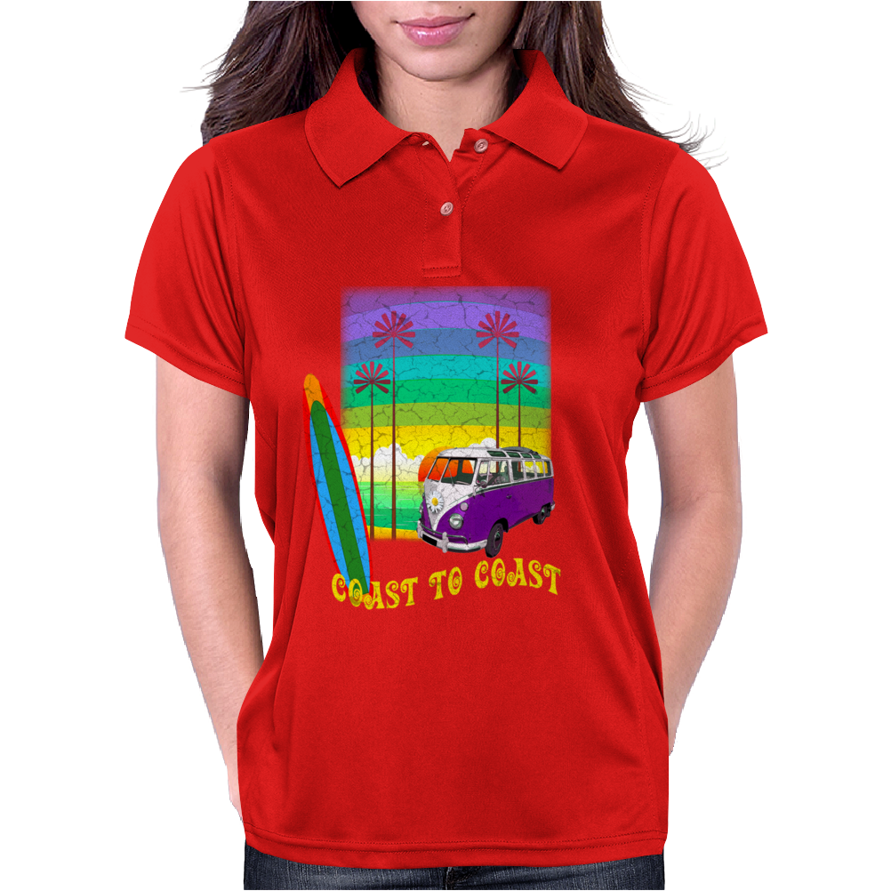 Surfing Coast to Coast Womens Polo