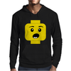 Surprised Expression Lego Head Mens Hoodie