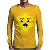 Surprised Expression Lego Head Mens Long Sleeve T-Shirt