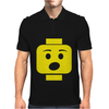 Surprised Expression Lego Head. Mens Polo