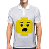 Surprised Expression Lego Head Mens Polo