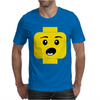 Surprised Expression Lego Head Mens T-Shirt