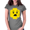 Surprised Expression Lego Head Womens Fitted T-Shirt