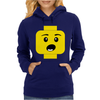 Surprised Expression Lego Head Womens Hoodie