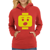 Surprised Expression Lego Head. Womens Hoodie