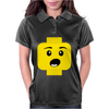 Surprised Expression Lego Head Womens Polo