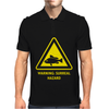 Surreal Art Hazzard Warning Sign Fish Mens Polo