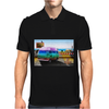 Surrealistic design by Axe-illustrations of a dreamy sunny place Mens Polo