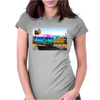 Surrealistic design by Axe-illustrations of a dreamy sunny place Womens Fitted T-Shirt