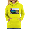 Surrealistic design by Axe-illustrations of a dreamy sunny place Womens Hoodie