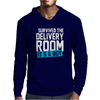 Survived The Delivery Room It's a Boy Funny Mens Hoodie