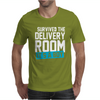 Survived The Delivery Room It's a Boy Funny Mens T-Shirt