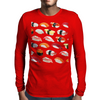 sushi print Mens Long Sleeve T-Shirt