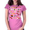 sushi print Womens Fitted T-Shirt