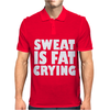 Sweat Is Fat Crying Bodybuilding Gym Wear Training Mens Polo