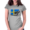 Swedish Speedway Racing Womens Fitted T-Shirt