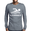 Swimmer Mens Long Sleeve T-Shirt