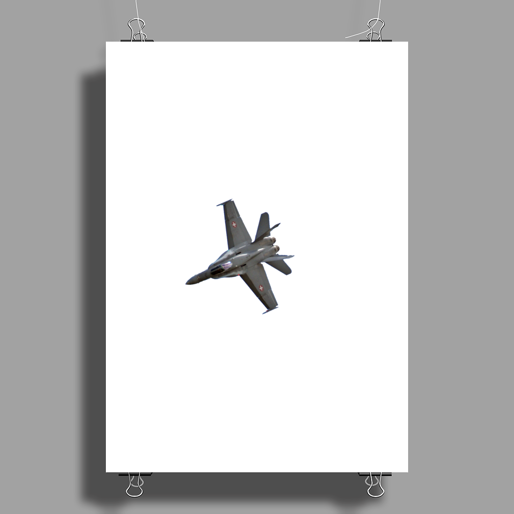 Swiss Air Force F-18 Jet Poster Print (Portrait)