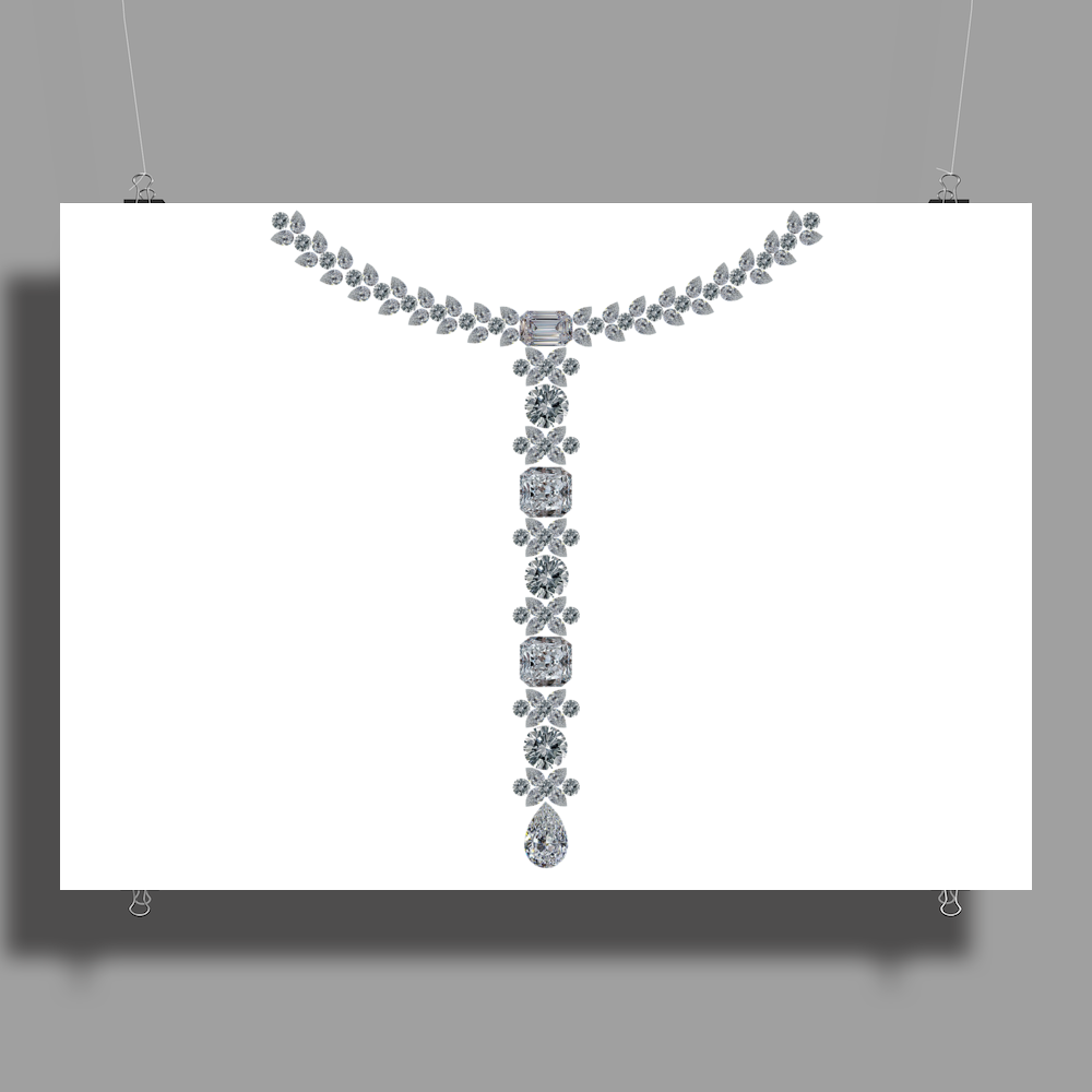 T Diamond Necklace Poster Print (Landscape)
