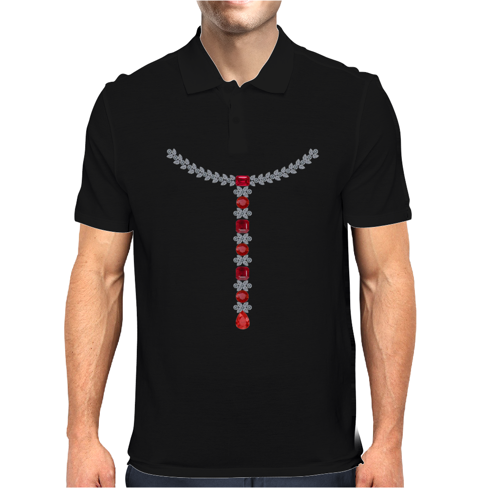 T Diamond Necklace with Rubies Mens Polo