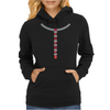 T Diamond Necklace with Rubies Womens Hoodie