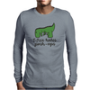 T-Rex hates push-ups Mens Long Sleeve T-Shirt