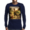 T-rex skeleton Mens Long Sleeve T-Shirt