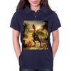 T-rex skeleton Womens Polo