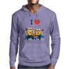 T-SHIRT DONNA I LOVE MINIONS CATTIVISSIMO ME  IDEA REGALO ROAD TO HAPPINESS Mens Hoodie