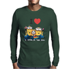 T-SHIRT DONNA I LOVE MINIONS CATTIVISSIMO ME  IDEA REGALO ROAD TO HAPPINESS Mens Long Sleeve T-Shirt