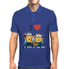 T-SHIRT DONNA I LOVE MINIONS CATTIVISSIMO ME  IDEA REGALO ROAD TO HAPPINESS Mens Polo